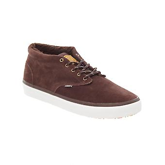 Element Chocolate Suede Preston - Sherpa Lined Shoe