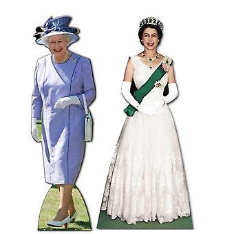 La Reina Isabel II (1953-2012) - recorte de cartón de tamaño natural / conjunto de pie - Jubileo de diamante 2012