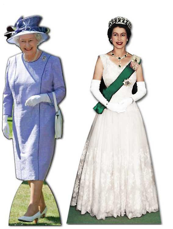 Queen Elizabeth II (1953 to 2012) - Lifesize Cardboard Cutout / Standee Set - Diamond Jubilee 2012