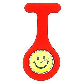 Boxx Unisex Red Smiley Face Infection Control Gel Professional Fob Watch Boxx006