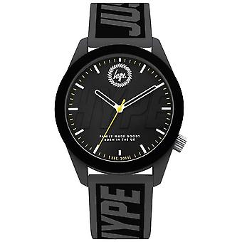 Hype | Mens | Grey And Black Silicone Strap | HYG018BE Watch