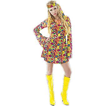 Orion Costumes Womens 60s 70s Hippy Flower Power Floral Festival Fancy Dress