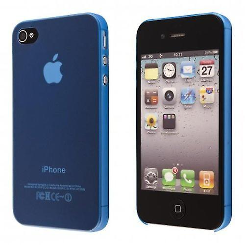 IPhone 4 & 4S Hard Plastic Cover Back Case - Blue