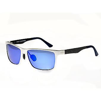 Breed Vulpecula Titanium Polarized Sunglasses - Silver/Purple-Blue
