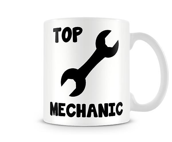 Decorative Writing Top Mechanic Printed Text Mug