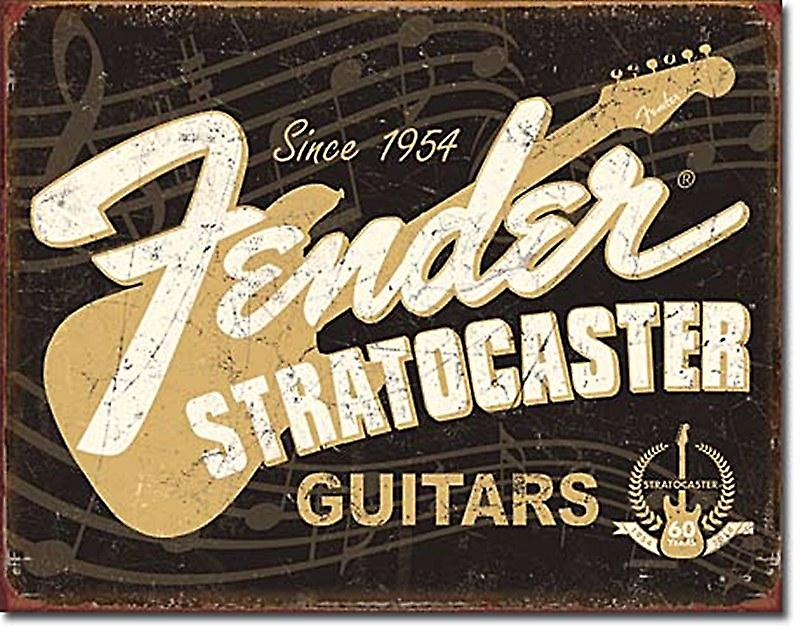 Fender Stratocaster 60 Years metal wall sign (de)