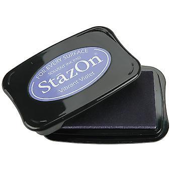 StazOn Solvent Ink Pad-Vibrant Violet