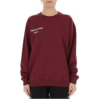 Semi-couture Chiara Burgundy Cotton Sweatshirt
