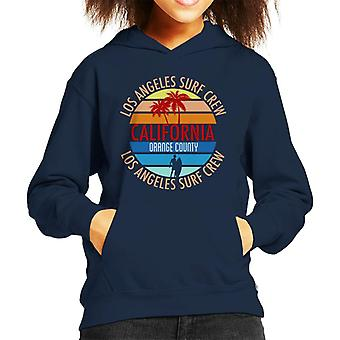 Orange County Surf Crew Retro Kid's Hooded Sweatshirt