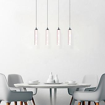 Modern Meteor Glass LED Chandelier 4 Pendant Lamp Rectangular Canopy New