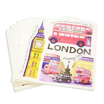 Union Jack Wear Iconic London Napkins - British Themed Party Napkins