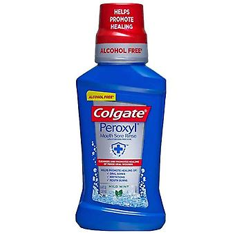 Colgate peroxyl mouth sore rinse, antiseptic oral cleanser, mint, 8 oz
