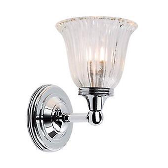 Modern Polished Chrome Bathroom Wall Light