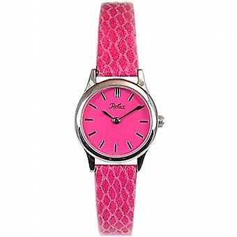 Peau de réflexe serpent analogique bracelet rose Slim Ladies Dress Watch 1014063L
