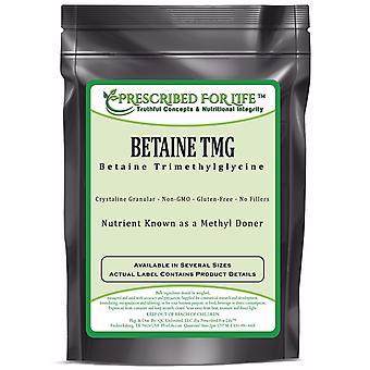 Betaine Anhydrous (TMG) - Pure Trimethylglycine Powder - Reduce Homocysteine Levels