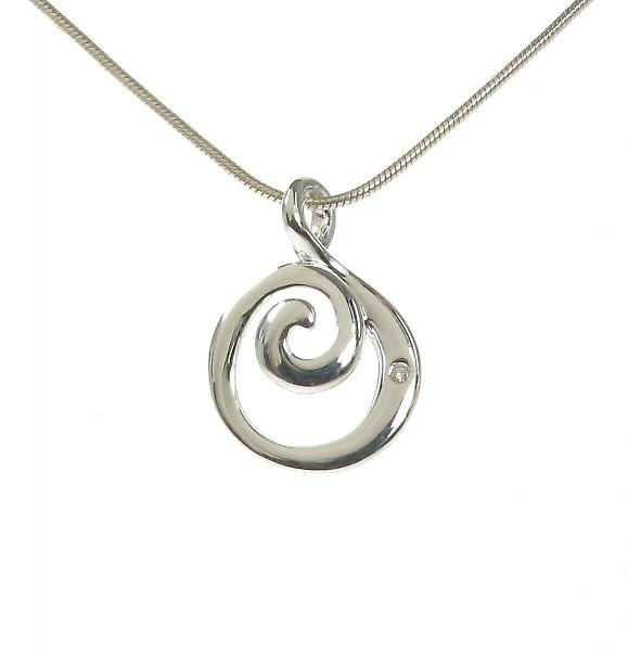 Cavendish French Silver Curly Wurly Pendant