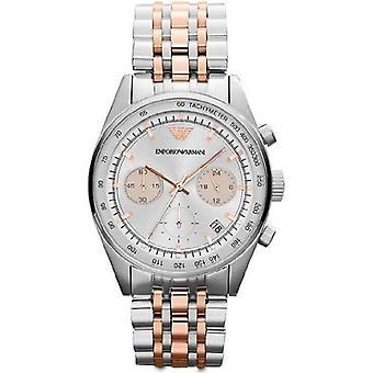 Emporio Armani Ar6010 Ladies Two Tone Chronograph Watch