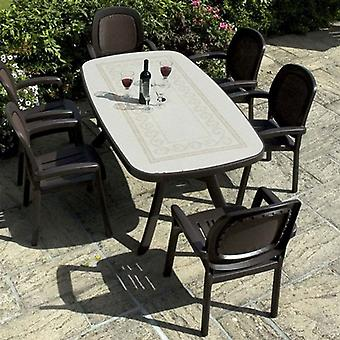 Nardi Toscana Coffee with Beta Chairs Resin Garden Furniture Set