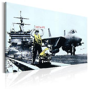 Canvas print-applaus van Banksy