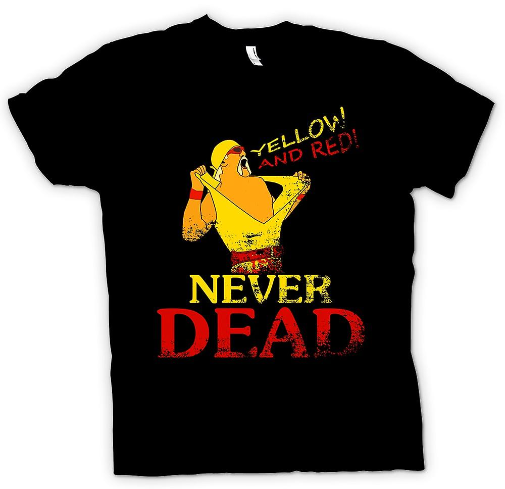 Womens T-shirt - Hulk Hogan - Yellow And Red Never Dead