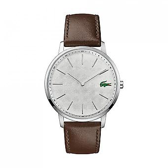 Watch MOON 2011002 Lacoste - watch display analog Bracelet Leather Brown man