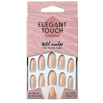 Elegant Touch Wild Nudes False Nails Collection - You Glow, Girl! (24 Nails)