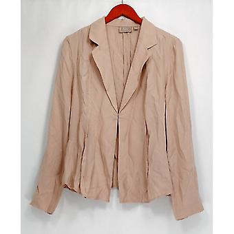 Kelly by Clinton Kelly Blazer Draped Front Jacket Soft Blush Pink A252792