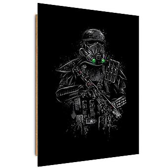Deco Panel, black soldier in armor