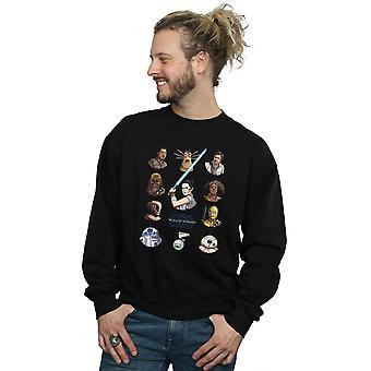 Star Wars The Rise Of Skywalker Resistance Character Line Up Men's Sweatshirt
