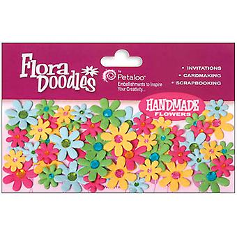 Flora Doodles Jeweled Florettes 80 Pkg Fuchsia Green Blue Orange P1350 210