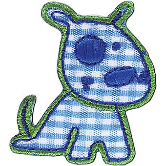 Iron On Appliques Blue Dog A001300 264