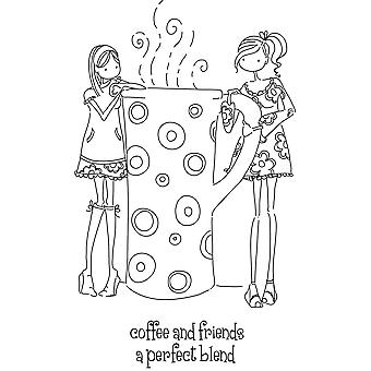 Stamping Bella Unmounted Rubber Stamp Uptown Girls Clarissa And Camille Ll130
