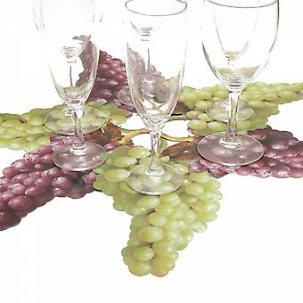 6 glass coasters motif grape of Bordeaux-Green