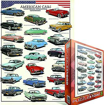 American Cars (of the 50s) 1000 piece jigsaw puzzle   (pz)