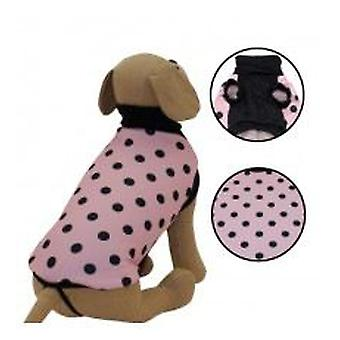 Yagu Felpada Sweatshirt neck high polka dot pink (dogs, clothes, sweaters)