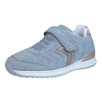 Geox J Maisie G Girls Velcro Trainers / Shoes - Grey