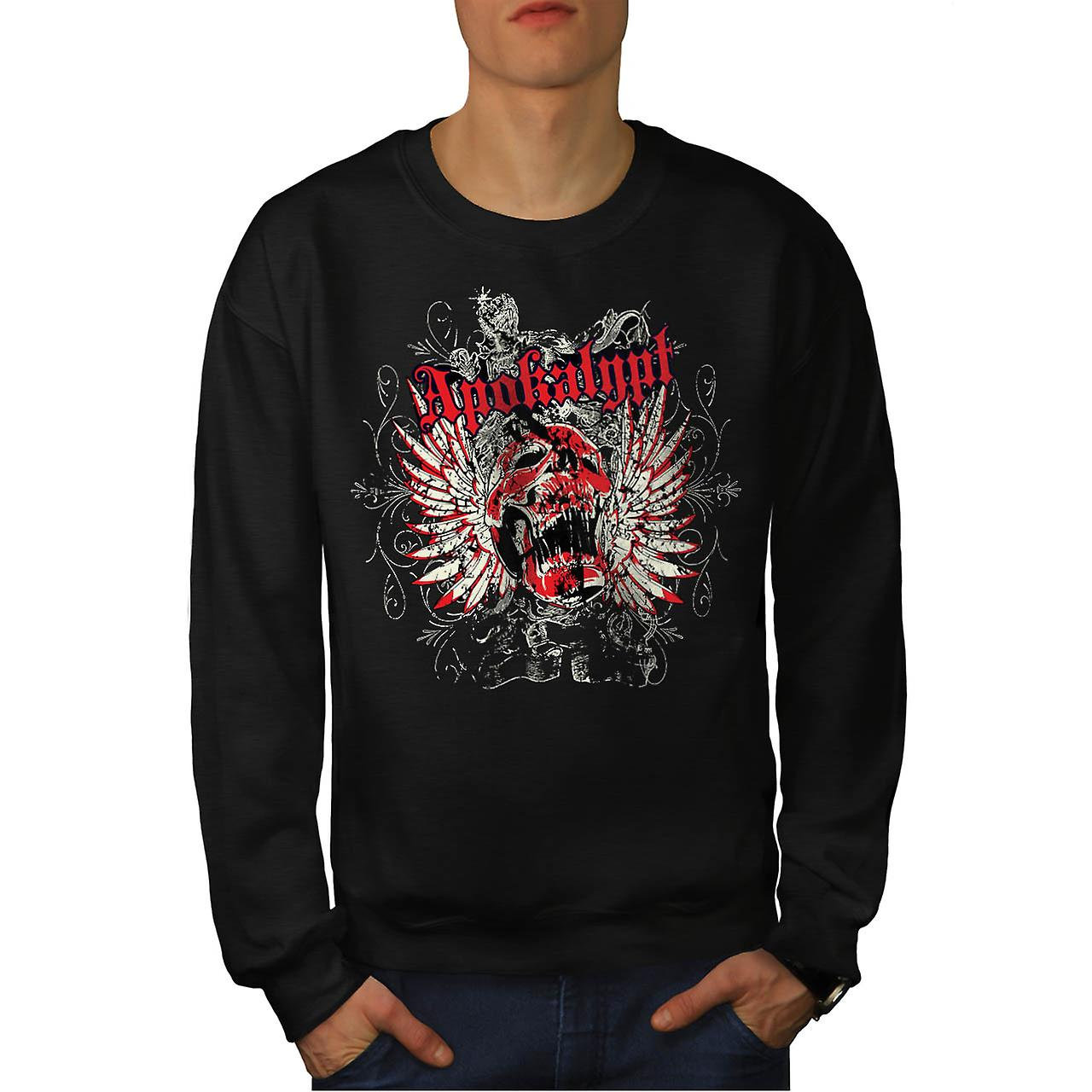 Apocalypse Dead Curse Skull Head Men Black Sweatshirt | Wellcoda