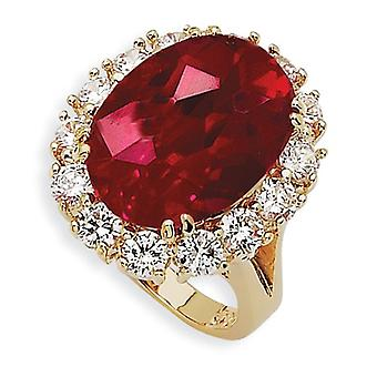 Simulated Ruby Ring - Size 6