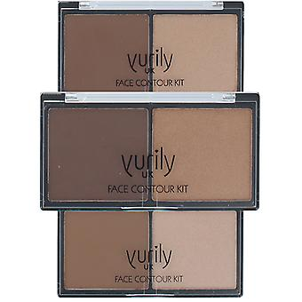 Yurily ansigt Duo Contour Kit med Bronzer & Highligher