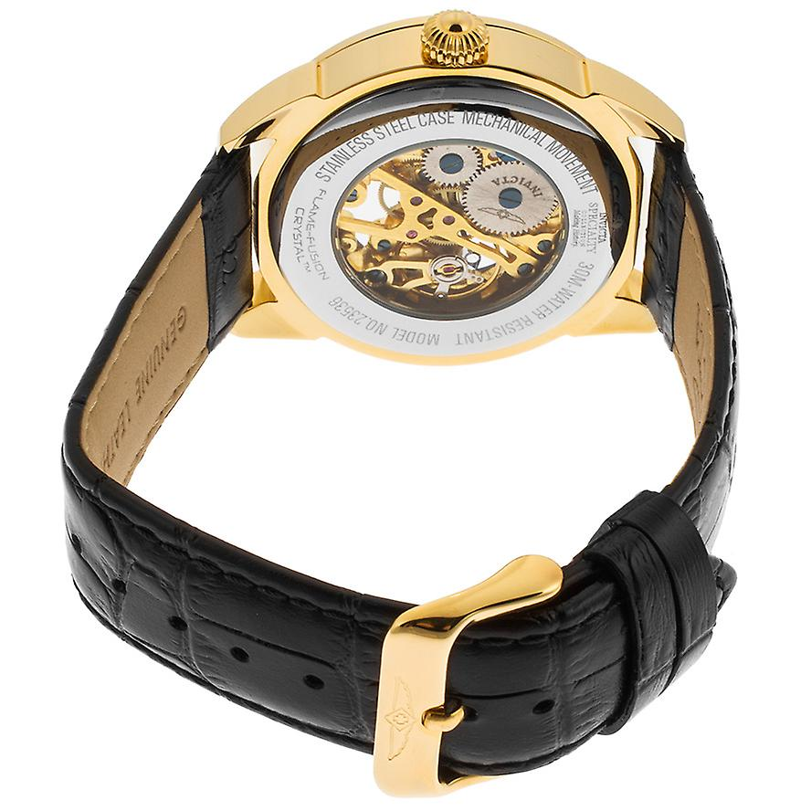 Invicta Men's 'Specialty' Mechanical Leather Casual Watch, (Model: 23536)