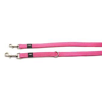 Rogz Lumberjack Reflective Nylon Multi Lead Pink 25mm X1.6m