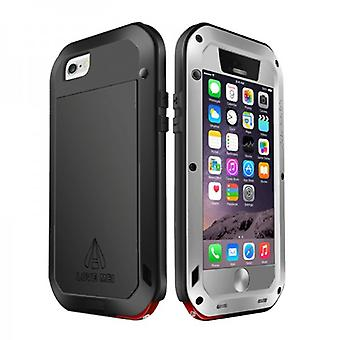 Elsker MEI Outdoor metal kofanger for Apple iPhone 6 4.7 etui sølv