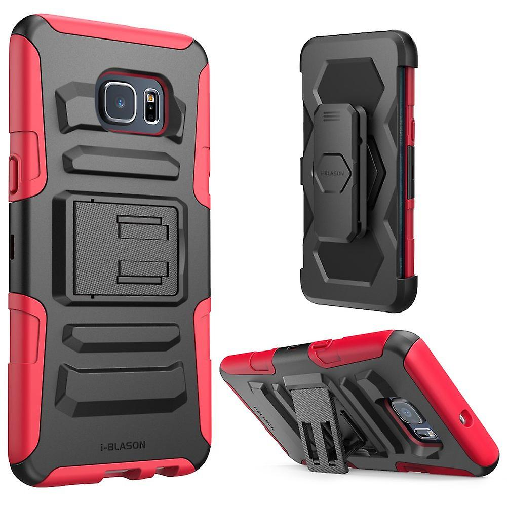 i-Blason Galaxy S6 Edge Plus Prime Series Holster Case - Red