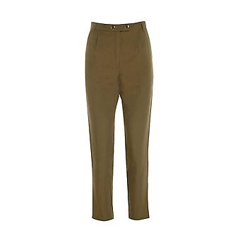 Topshop Khaki Cigarette Pleated Trousers TRS236-6