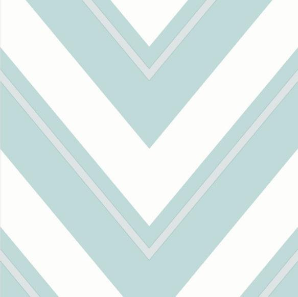 Geometric Wave Wallpaper White Duck Egg Silver Glitter Sparkle Vinyl Chevron