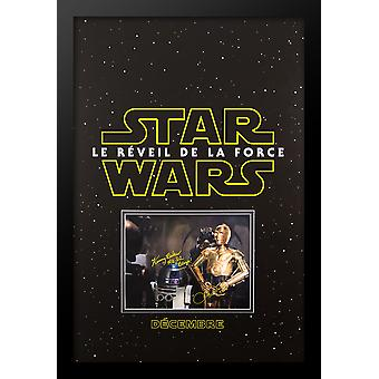 Star Wars: Le Reveil De La Force - Signed Photo in Movie Poster