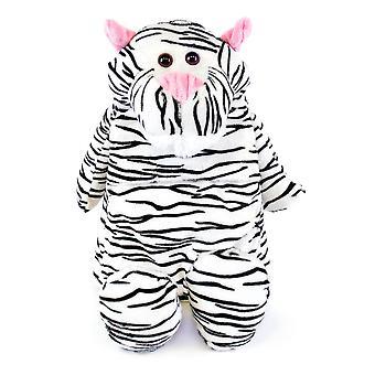 Barn nyhet mjuk vadderad Fleece täckt Hotwater flaska - vit Tiger