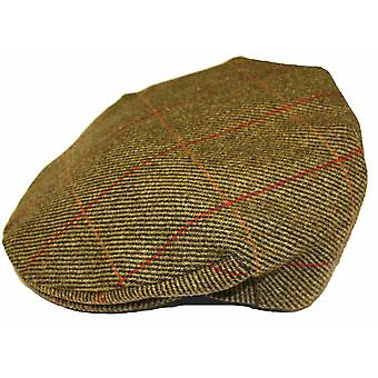 Mens Ladies Adult Teflon Coated Country Tweed Check Wool British Made Flat Cap