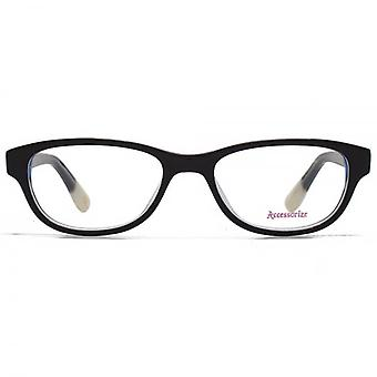 Accessorize Soft Rectangle Glasses In Black