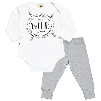 Spoilt Rotten Wild Print Babygrow & Baby Jersey Trousers Outfit Set